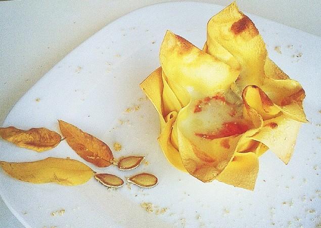 Cestini di lasagna alla zucca, amaretti e gorgonzola DOP