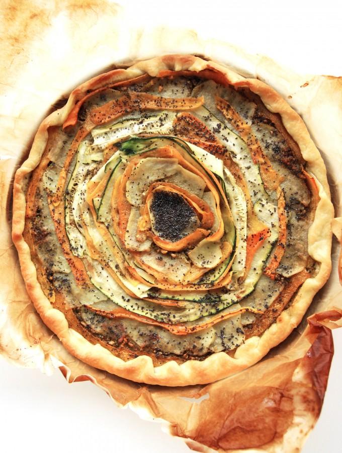 Torta Rustica con Verdure a Spirale