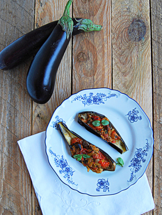 Barchette di Melanzane Vegetariane