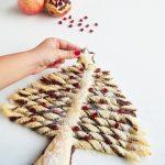 Albero di Natale di Pasta Sfoglia con Crema alle Nocciole
