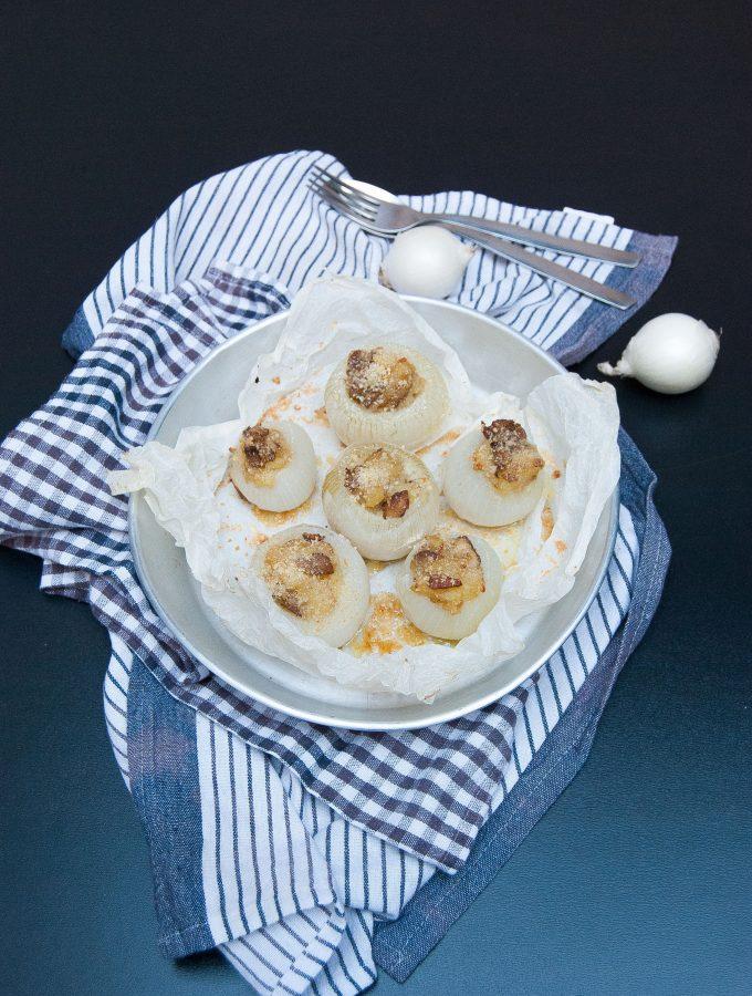 Cipolle ripiene con porcini e patate